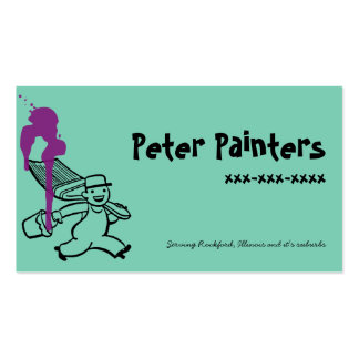 Peter Painters With Paint Spill Double-Sided Standard Business Cards (Pack Of 100)