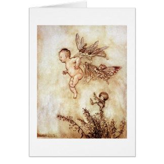Peter Pan and Fairies (Blank Inside) Card