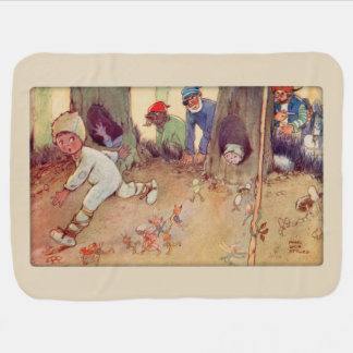Peter Pan and Fairies running from Pirates Swaddle Blanket