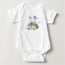 Peter Pan Flying over Neverland Baby Bodysuit