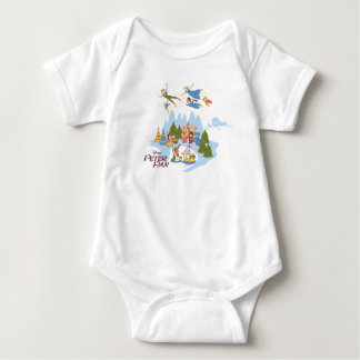 Peter Pan Flying over Neverland Baby Bodysuit