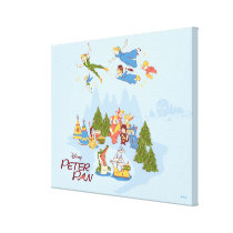 Peter Pan Flying over Neverland Canvas Print