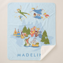 Peter Pan Flying over Neverland Sherpa Blanket