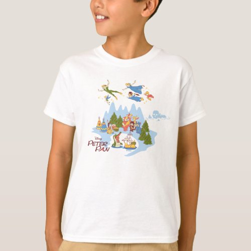Peter Pan Flying over Neverland T_Shirt