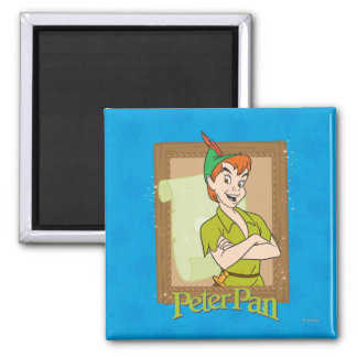 Peter Pan - Frame 2 Inch Square Magnet