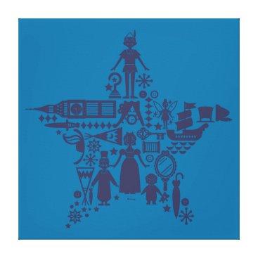 Disney Themed Peter Pan & Friends Star Canvas Print