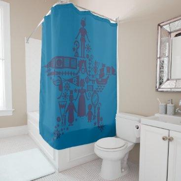 Disney Themed Peter Pan & Friends Star Shower Curtain