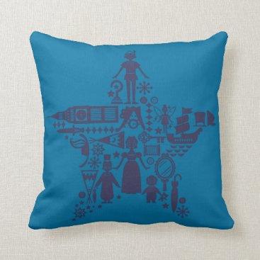 Disney Themed Peter Pan & Friends Star Throw Pillow