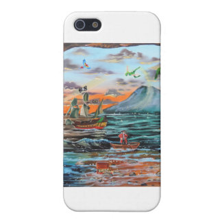 Peter Pan Hook's cove Tinker Bell painting Cover For iPhone SE/5/5s