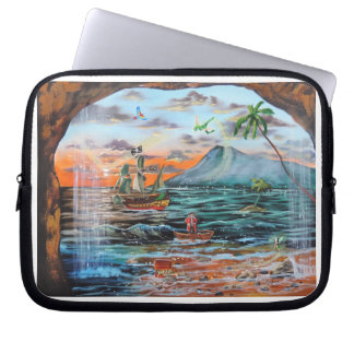 Peter Pan Hook's cove Tinker Bell painting Laptop Sleeve