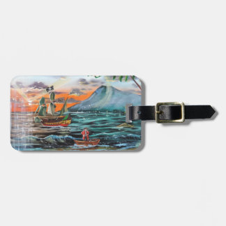 Peter Pan Hook's cove Tinker Bell painting Luggage Tag