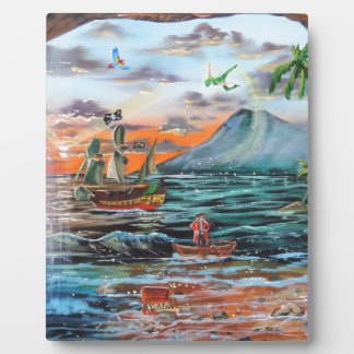 Peter Pan Hook's cove Tinker Bell painting Plaque