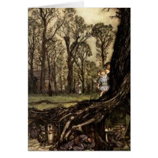 Peter Pan in Kensington Gardens Fairies Children's Card