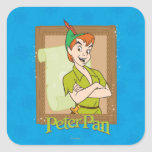 Peter Pan - marco Calcomania Cuadrada Personalizada