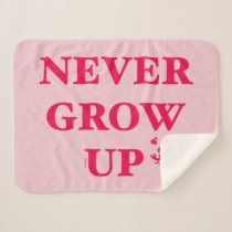 Peter Pan | Never Grow Up Sherpa Blanket