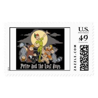 Peter Pan Peter Pan and the Lost Boys Disney Stamp