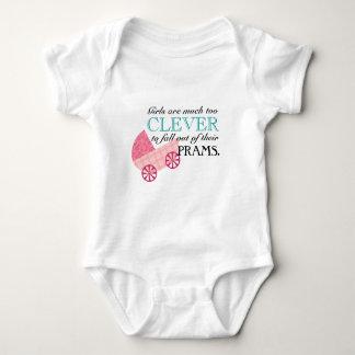 Peter Pan Pink Pram Quote for Girl Babies Infant Creeper