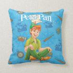 Peter Pan que se sienta Almohada