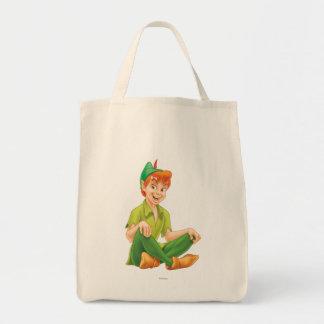 Peter Pan que se sienta Bolsa Tela Para La Compra