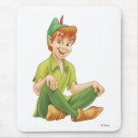Peter Pan que se sienta Disney Alfombrillas De Ratones