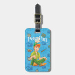 Peter Pan que se sienta Etiquetas Para Maletas