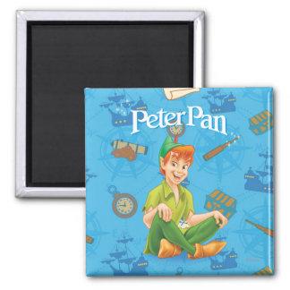 Peter Pan que se sienta Iman De Frigorífico