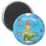 Peter Pan que se sienta Imán Redondo 5 Cm