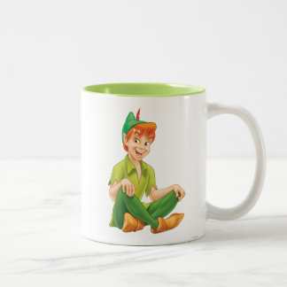 Peter Pan que se sienta Taza