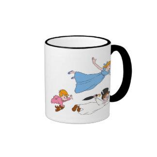 Peter Pan s Wendy John and Michael Darling Flying Mug