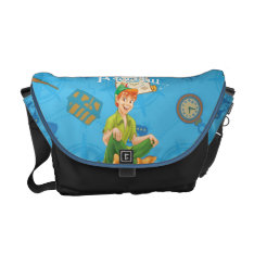Peter Pan Sitting Down Courier Bag at Zazzle