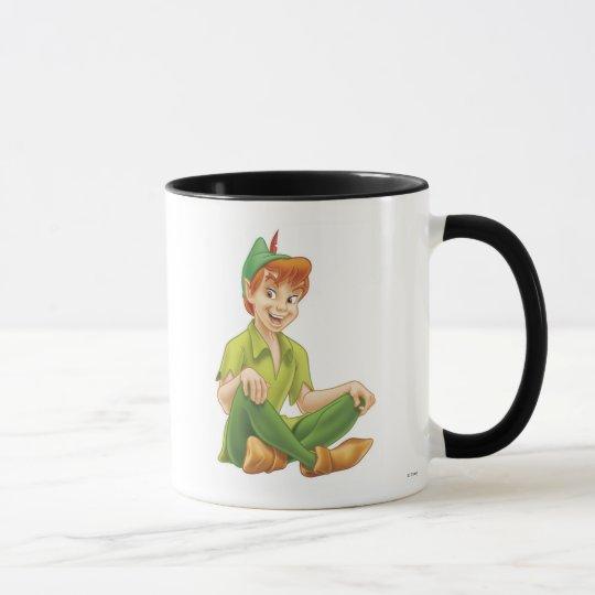 Peter Pan Sitting Down Disney Mug