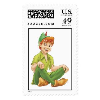 Peter Pan Sitting Down Disney Postage Stamp