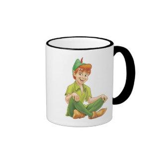 Peter Pan Sitting Down Disney Ringer Mug