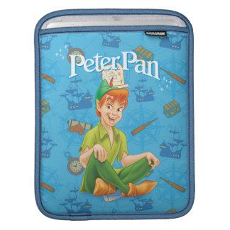 Peter Pan Sitting Down iPad Sleeves