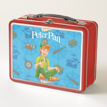 Peter Pan Sitting Down Metal Lunch Box