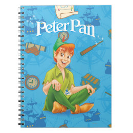 Peter Pan Sitting Down Notebook