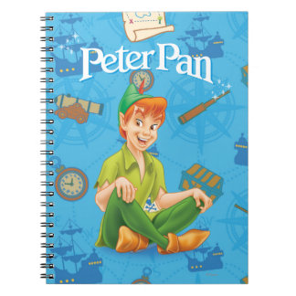 Peter Pan Sitting Down Notebook