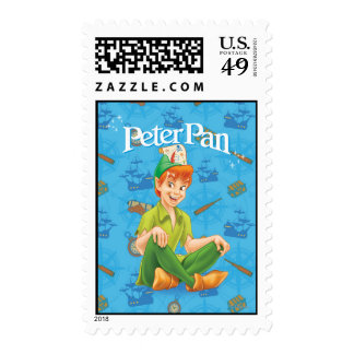 Peter Pan Sitting Down Postage