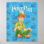 Peter Pan Sitting Down Poster