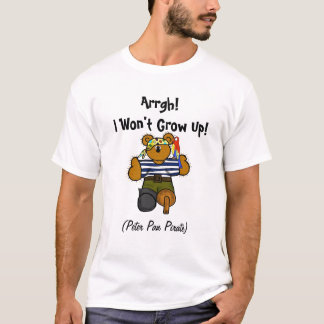 Peter Pan Syndrome Pirate T-shirt