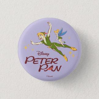 Peter Pan & Tinkerbell Button
