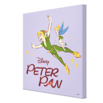 Peter Pan & Tinkerbell Canvas Print