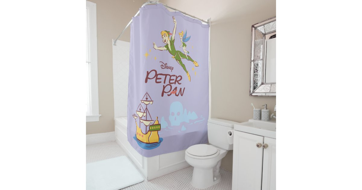 Peter Pan Tinkerbell Shower Curtain