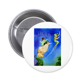 PETER PAN, WENDY, JOHN AND MICHAEL FLY AWAY BUTTON