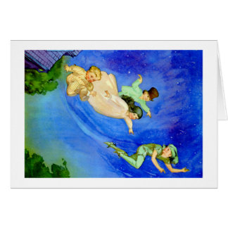 PETER PAN, WENDY, JOHN AND MICHAEL FLY AWAY CARD