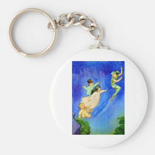 PETER PAN, WENDY, JOHN AND MICHAEL FLY AWAY KEY CHAINS