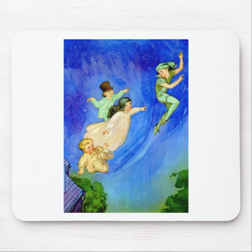 PETER PAN, WENDY, JOHN AND MICHAEL FLY AWAY MOUSE PAD