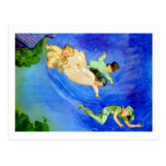 PETER PAN, WENDY, JOHN AND MICHAEL FLY AWAY POST CARD