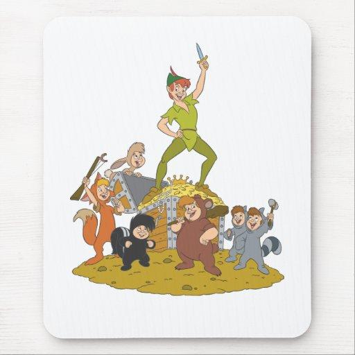 Peter Pan y los muchachos perdidos Tapetes De Ratón