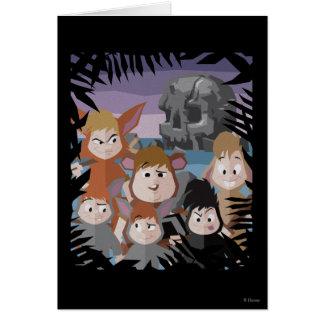 Peter Pan's Lost Boys At Skull Rock Card